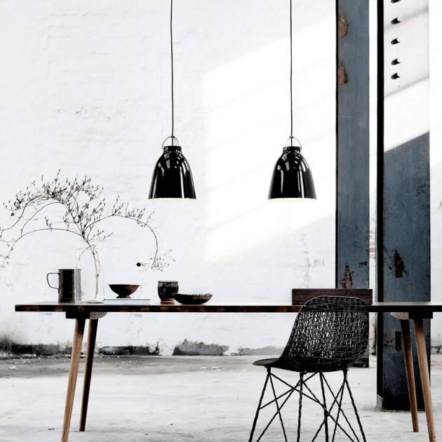 Ambiente con Lámpara Caravaggio P2 Black Black Fritz Hansen