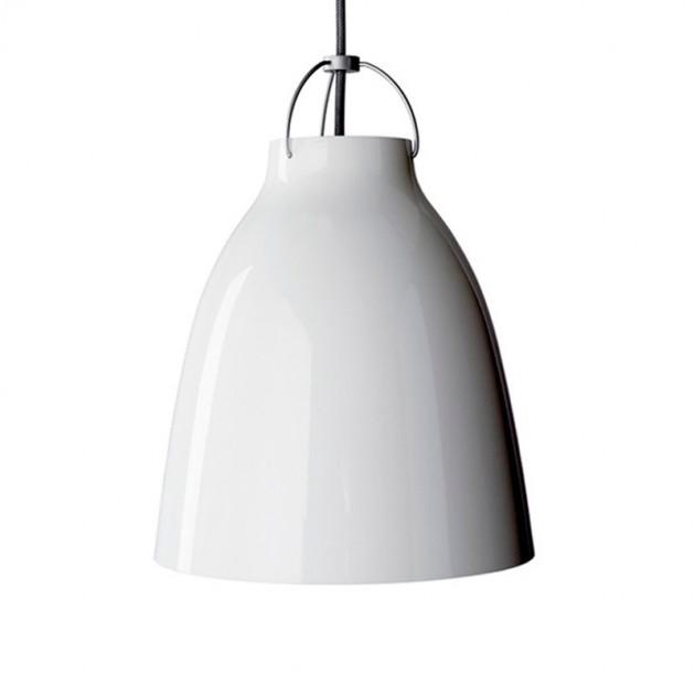 Lámpara Caravaggio P3 color blanco cordón gris Fritz Hansen