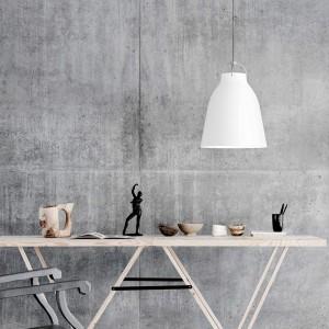 Ambiente con Lámpara Caravaggio P3 color blanco cordón gris Fritz Hansen