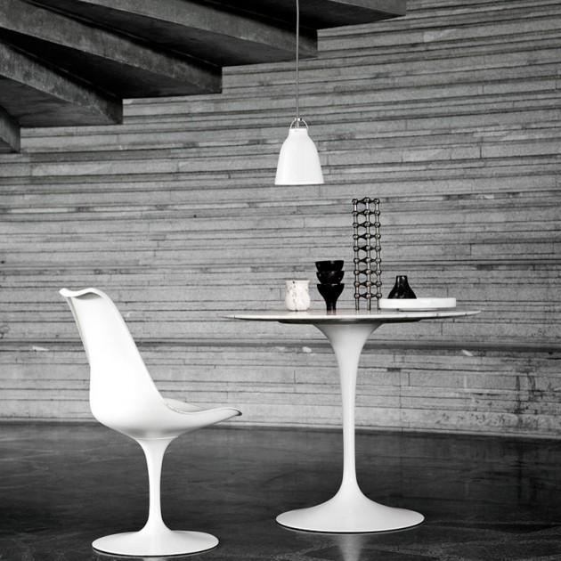 Ambiente con Lámpara Caravaggio P1 color blanco de Fritz Hansen