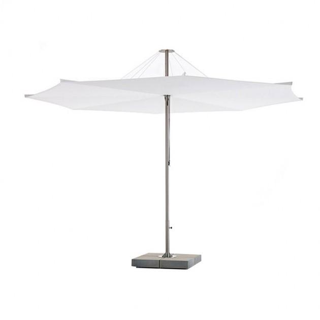 Parasol Inumbrina 380 con base de hormigón de extremis