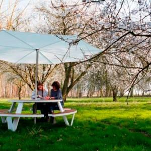 Ambiente con Mesa redonda picnic Pantagruel extremis