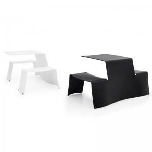 Mesas Picnik en color blanco y negro de extremis