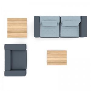 Ambiente Sofás Walrus color gris oscuro de extremis disponible en Moisés Showroom