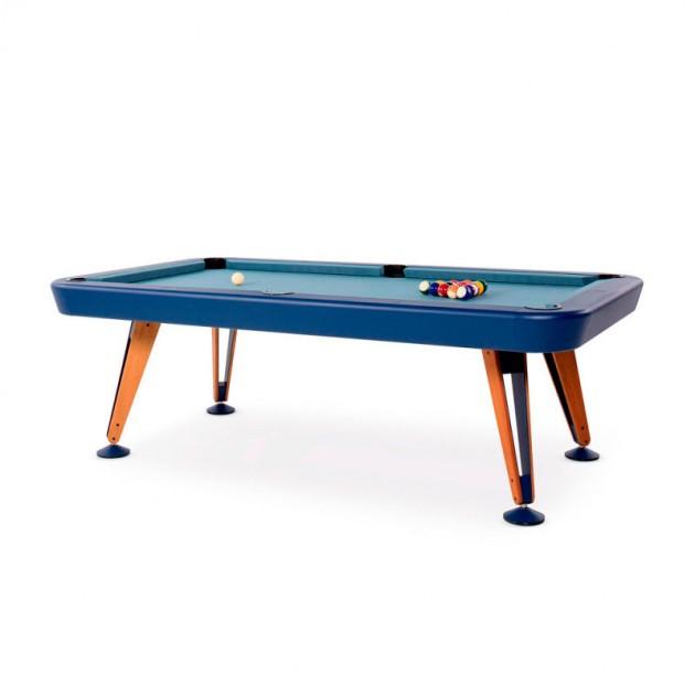 Billar diagonal color azul de RS Barcelona. Disponible Moisés Showroom