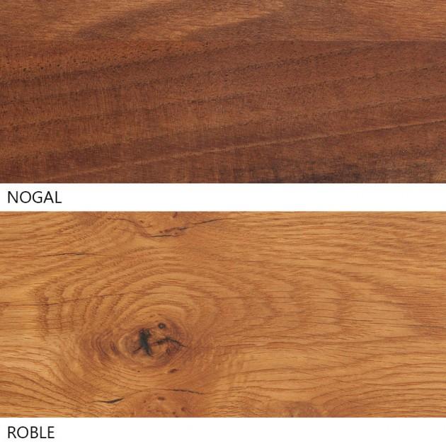 Tipos de madera Mesa Anton de E15. Disponible en Moisés Showroom