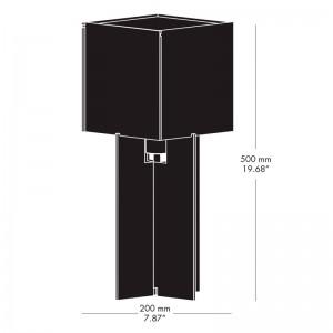 Medida lámpara Cross Plex T500 de Fritz Hansen
