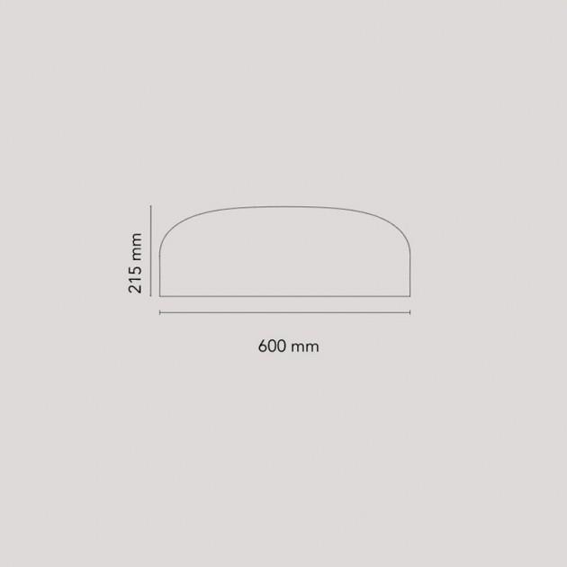 Dimensiones Aplique Smithfield C LED de Flos. Disponible en Moisés showroom
