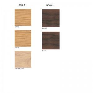 Muestra maderas para mesa de oficina CH110 de Carl Hansen. Disponible en Moisés showroom