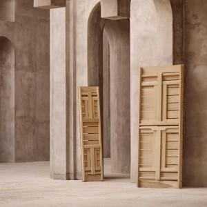 recogido Banco BM1871 madera de teca Carl Hansen. Disponible en Moisés showroom