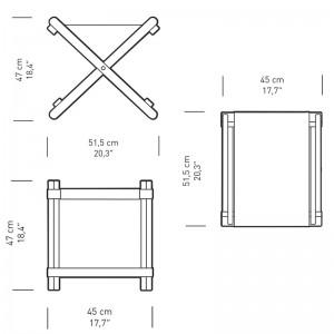 Dimensiones Reposapiés BM5768 de Carl Hansen