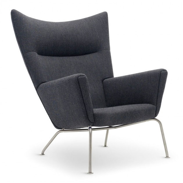 Wing chair carl Hansen tejido tela. Disponible en Moisés showroom