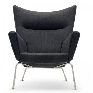Comprar sillón wing chair carl Hansen tejido tela. Disponible en Moisés showroom