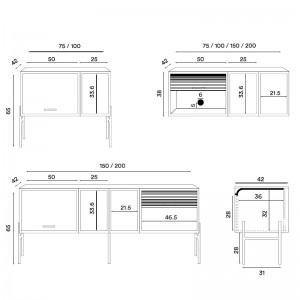 Dimensiones Hifive cabinet system de Northern. Descubre toda la colección en Moisés showroom