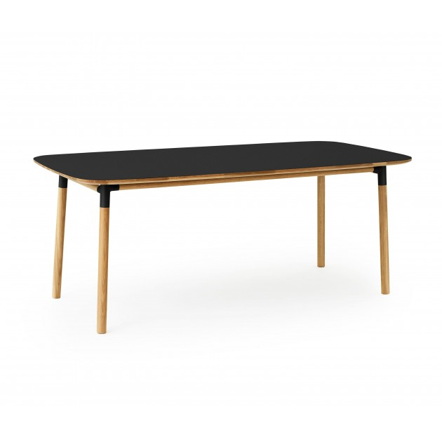 Mesa Form de roble y tablero negro 95x200 de Normann copenhagen