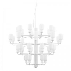Lámpara Amp Chandelier grande color branco cristal blanco de Normann copenhagen