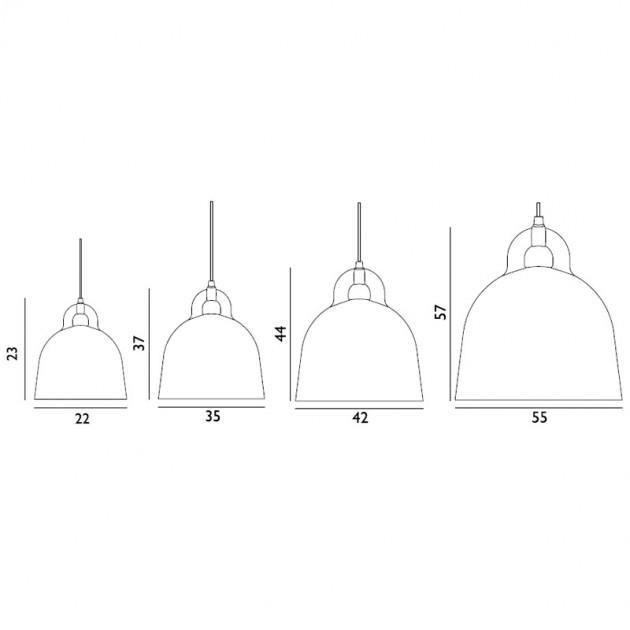 dimensiones lámparas colección Bell de Normann copenhagen