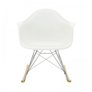 Frente Silla mecedora RAR blanco de Vitra en Moises Showroom