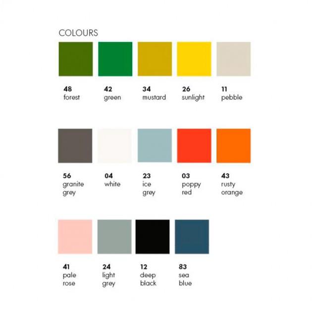 Colores plástico sillas Eames Vitra