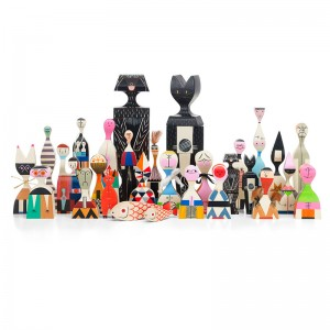 Wooden Dolls Cat & Dog ambientada Vitra