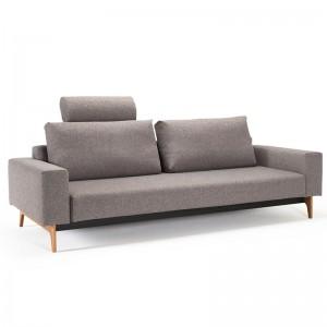 Sofá cama Idun color Gris 521 con reposacabezas de Innovation Living