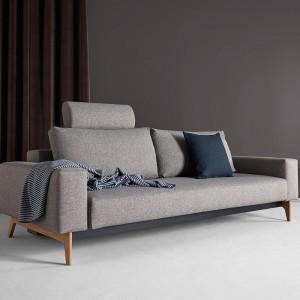 detalle tejido Sofá cama Idun gris 521 de Innovation Living