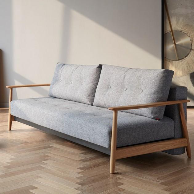 interior hogar con Sofá cama Eluma deluxe button color 565 de Innovation living