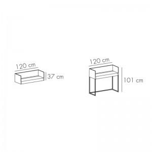 Medidas escritorio Stockholm 512 y 502 de Punt mobles
