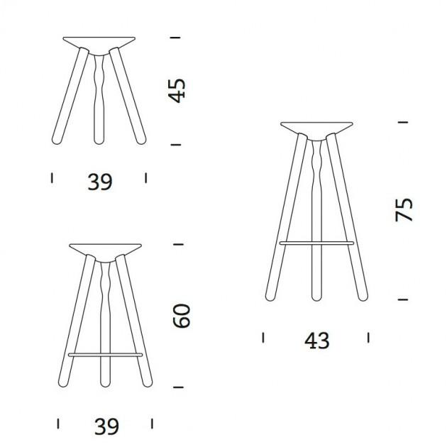 dimensiones Taburetes Mobles 114 Luco