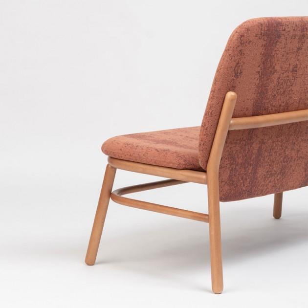 Respaldo sillón doble Lana madera respaldo alto de Ondarreta en Moises Showroom