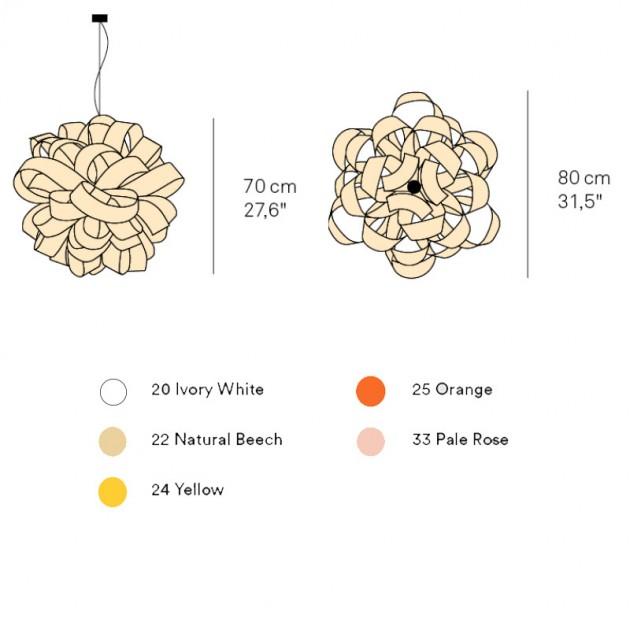 dimensiones y colores lámpara Agatha Luzifer SB