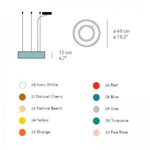 dimensiones y colores Lámpara Saturnia Luzifer pequeña