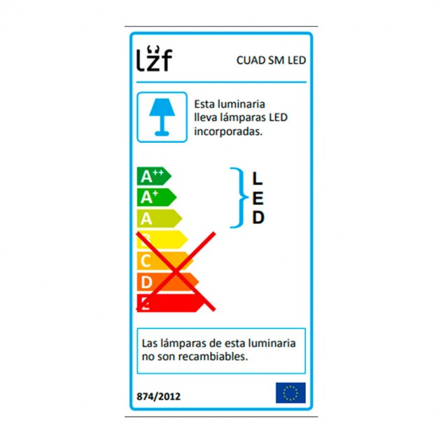 bombillas Lámpara suspensión Luzifer Cuad