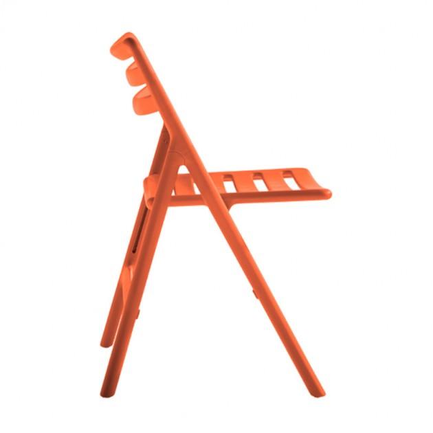 Silla Air plegable naranja de Magis