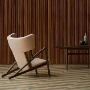 Ambiente sillón Grasshopper nogal de Finn Juhl en Moises Showroom