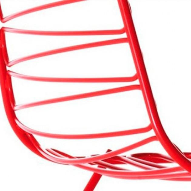 detalle respaldo Silla Flux de Magis roja
