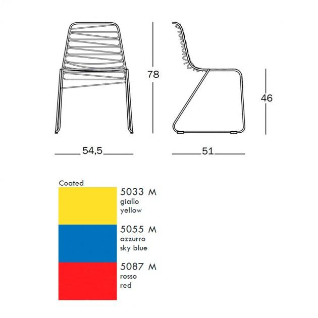 dimensiones y colores Silla Flux de Magis