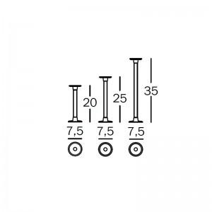 dimensiones candelabros de mesa Officina Magis