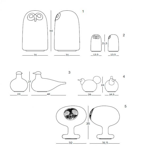 dimensiones lámparas de mesa Linnut de Magis