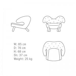 Medidas Pelican chair buttons de House of Finn Juhl