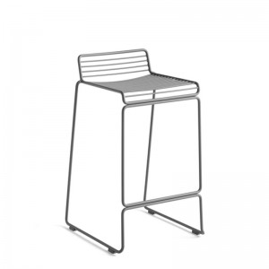 Taburete Hee Bar stool asphalt grey de HAY en Moises Showroom