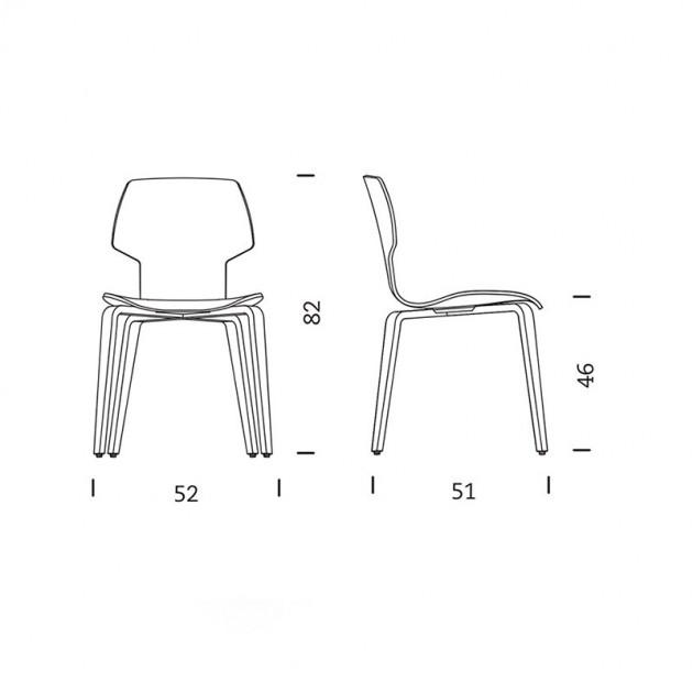 dimensiones Silla Gràcia Mobles 114