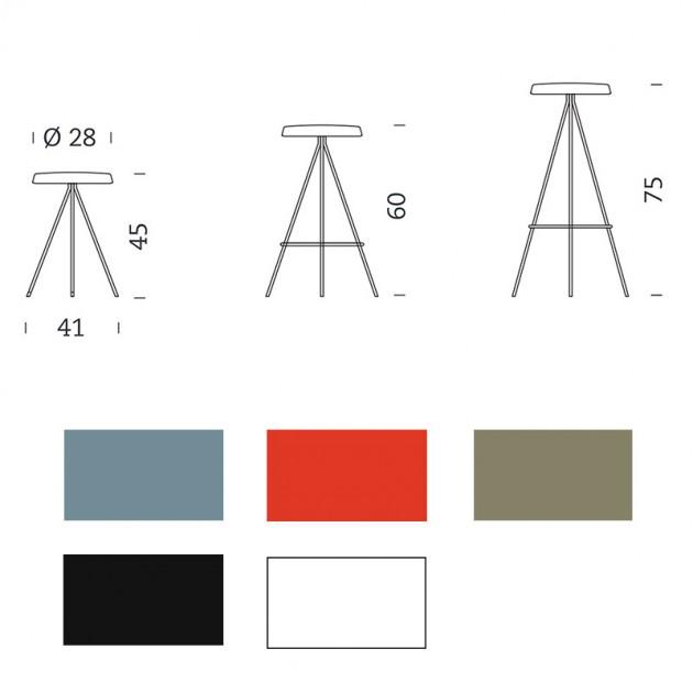 dimensiones y colores Taburete Nuta exterior Mobles 114