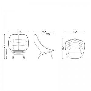 Medidas sillón uchiwa Quilt de HAY