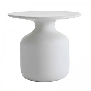 Mesa auxiliar Mini Bottle blanca Capellini