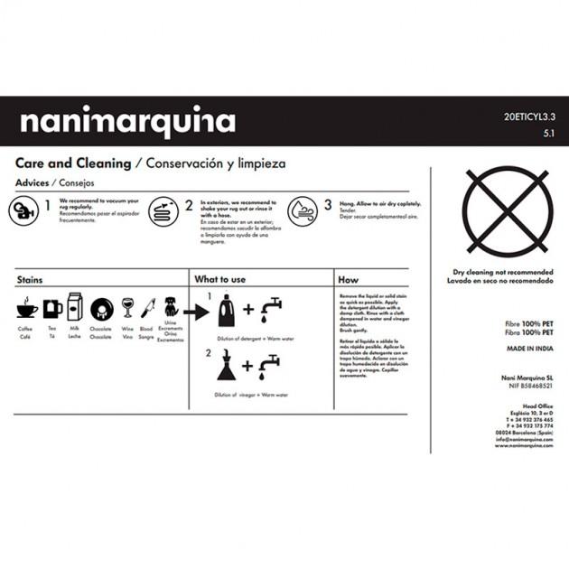 conservación y limpieza alfombra Shade exterior Nanimarquina