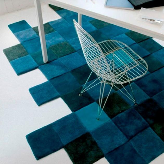 ambiente alfombra Do Lo Rez 1 azul Nanimarquina