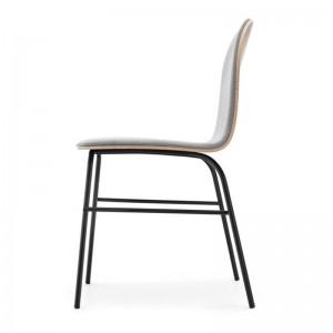 Lateral silla Terra Metal roble natural tapizada de Omelette-Ed en Moises Showroom