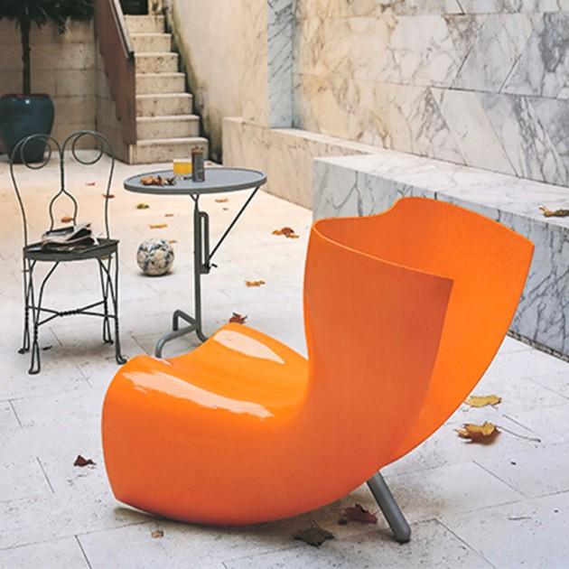 terraza Silla Felt naranja Cappellini
