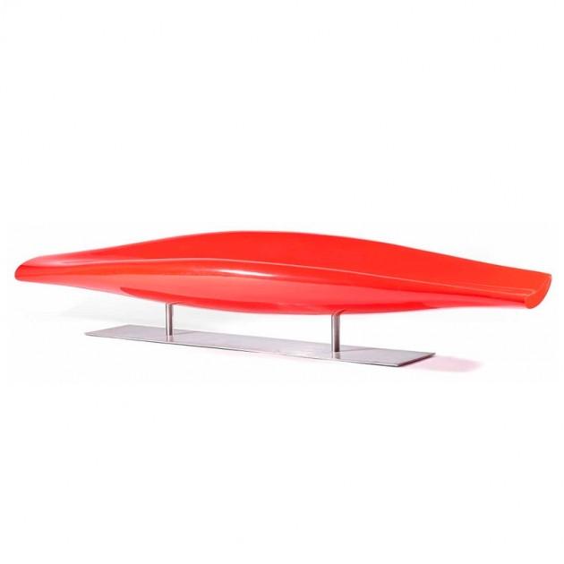Sofá Inout fibra de vidrio rojo Cappellini